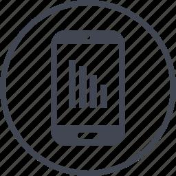 bars, data, graph, mobile, report icon