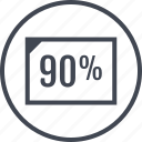 document, ninety, page, percent, rate icon