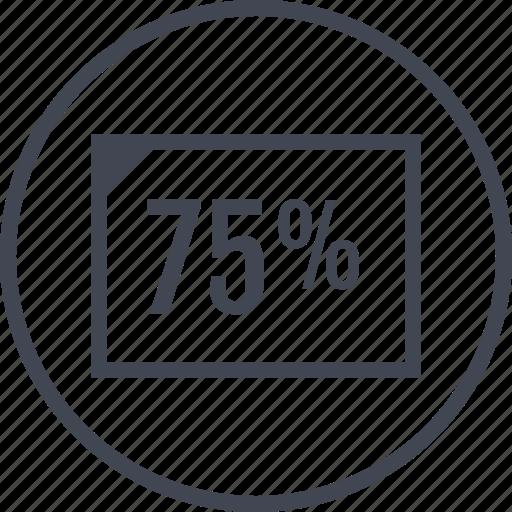 document, five, page, percent, seventy icon