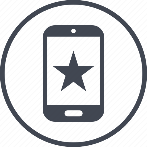 favorite, mobile, phone, special, star icon