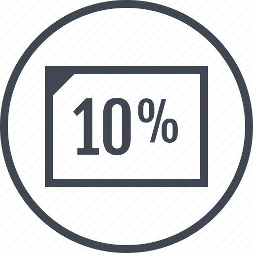 document, page, percentage, rate, ten icon