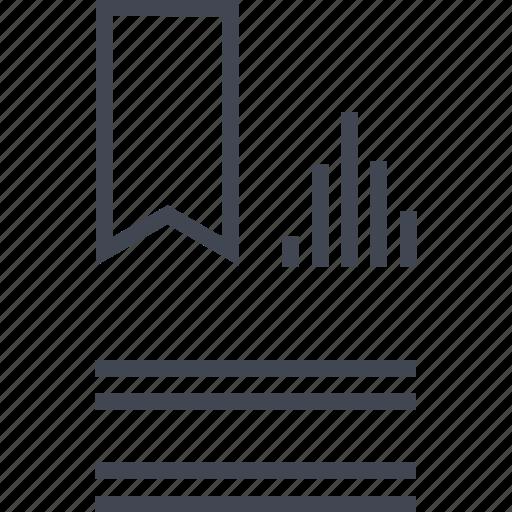 award, bars, data, ribbon icon