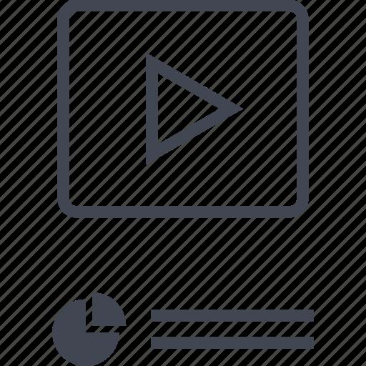 analytics, data, play, seo, video, youtube icon