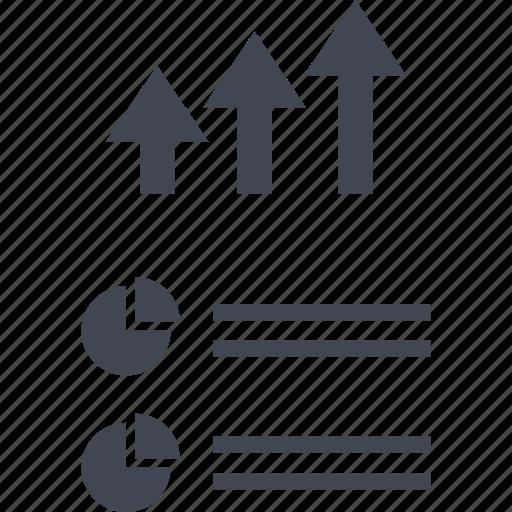 analytics, arrows, data, seo, up icon