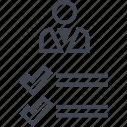 analytics, boss, person, profile, user, web icon