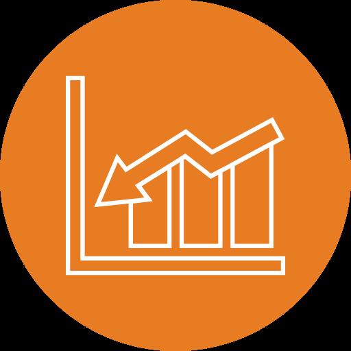 analytics, sales, stats icon