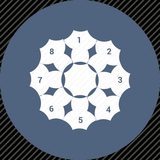 graph, infographic, pie, pie chart, pie graph, statistics icon