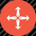 analytics, arrow, business, infographic, trends icon