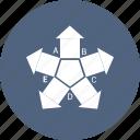 arrow, bar, graph, growth, infographic