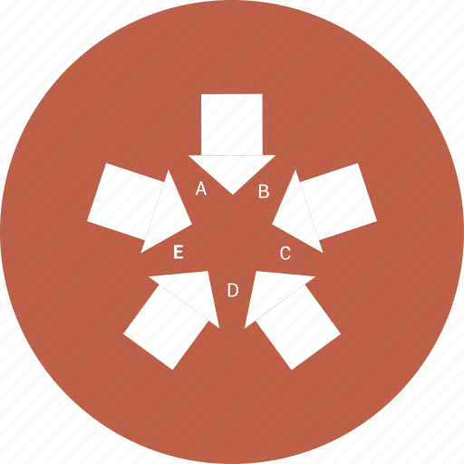 arrow, chart, graph, hashed, pie icon