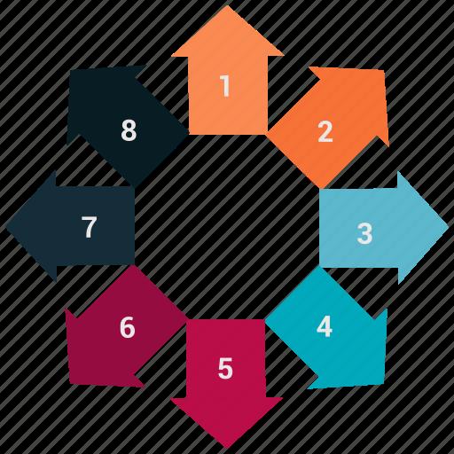 arrow, bar, bar chart, chart, diagram icon