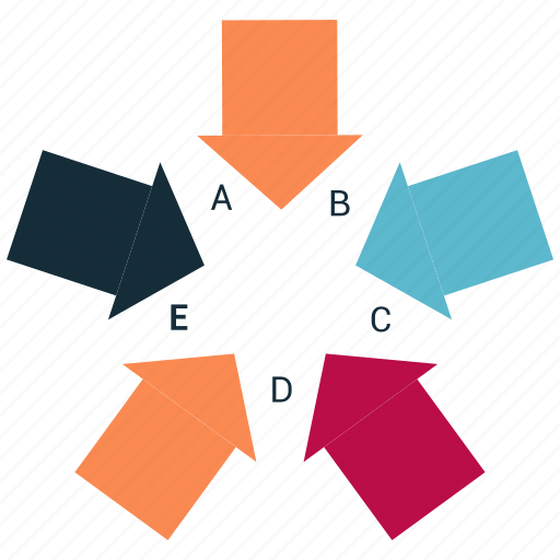 bar, direction, down, infographic, right, up icon