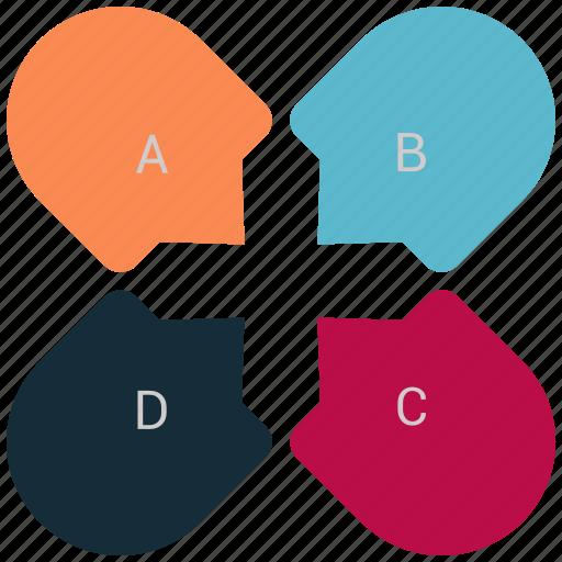 chart, graph, infographic, pie, piechart icon