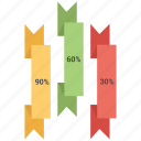 bar, chart, graph, infographic, ribbon icon