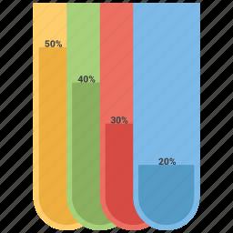 bars, data, infographic, information icon