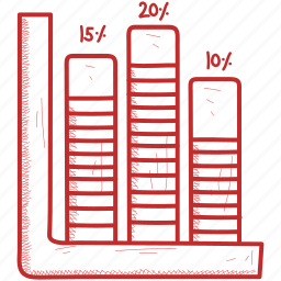 bar, chart, growth, infographic, line icon