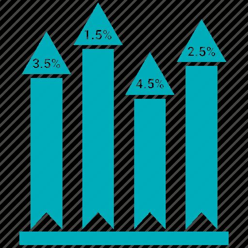 analytics, bar, chart, growth, growth bar, infographic icon