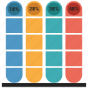 analytics, bar, chart, graph, growth bar, infographic icon