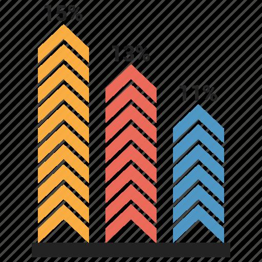 analytics, bar, chart, graph, growth bar, infographic icon