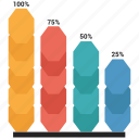 analytics, bar, business, chart, graph, infographic icon