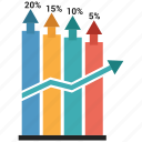 bar, infographic, growth, chart