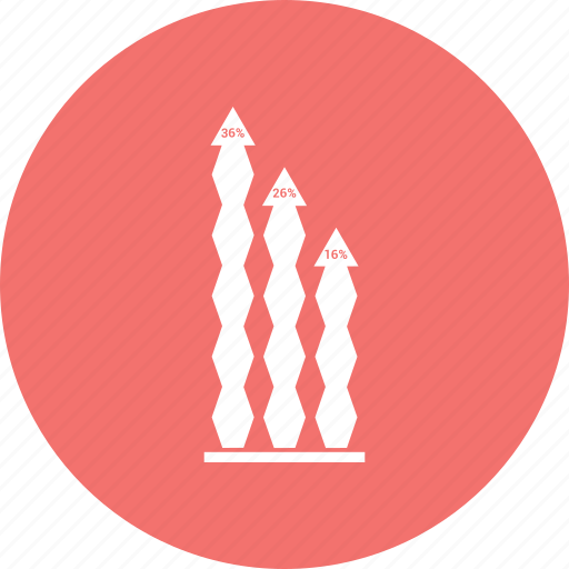 arrow, graph, increase, pointing icon