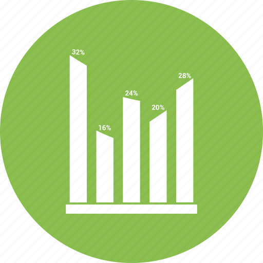 bar, growth chart, infographic icon