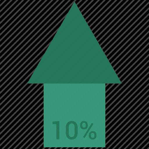analytics, chart, graph, growth, sales, stock, ten icon
