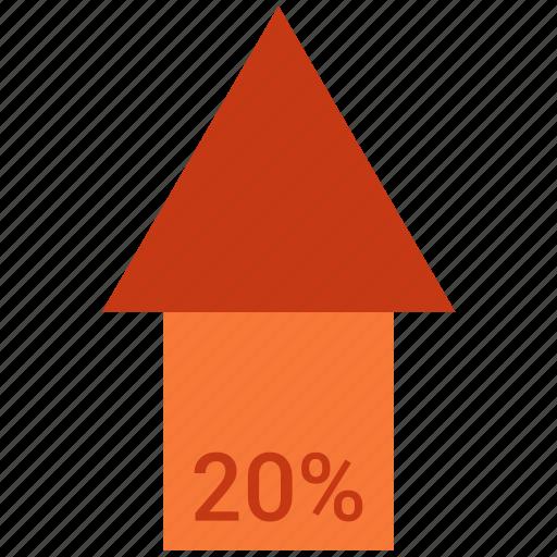 analytics, chart, finance, growth, sales, stock, twenty icon