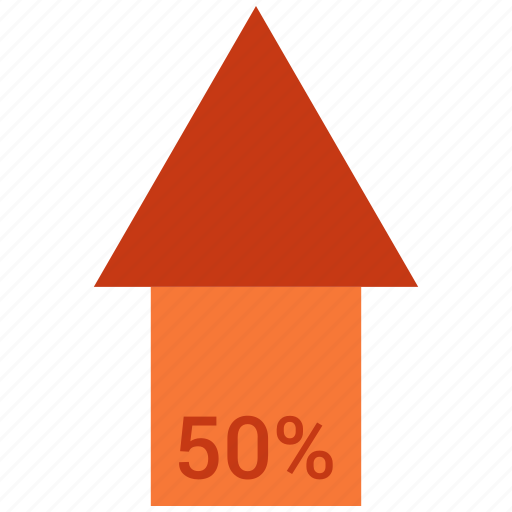 analytics, chart, fifty, finance, growth, sales, stock icon