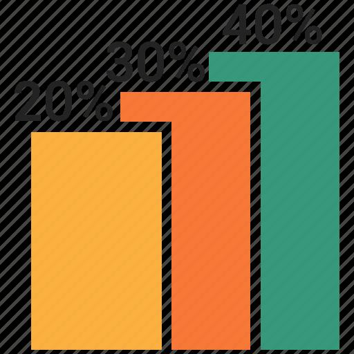 bar, graph, growth icon