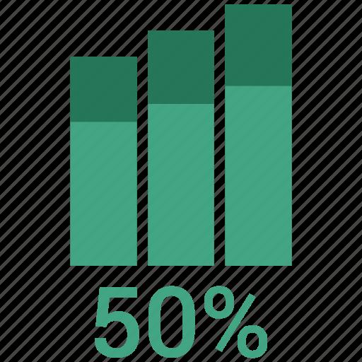 bar chart, bar graph, fifty, seo analytics, seo graph icon