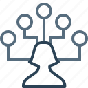 businessman, connection, hierarchy, network, nodes, structure, team icon