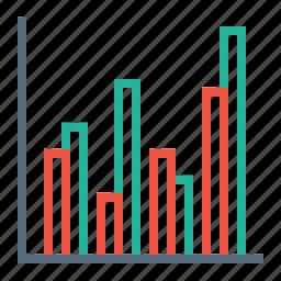 analysis, bar, chart, graph, line, report, statics icon