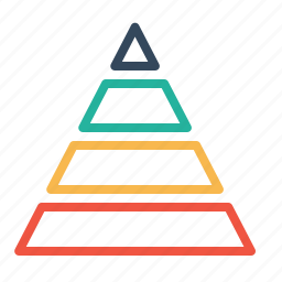business, chart, company, finance, planning, pyramid, statics icon