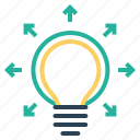 bulb, creative, idea, mind, productivity, startup, thinking icon