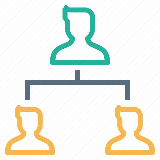 company, hierarchy, leader, nodes, organization, structure, subordinates icon