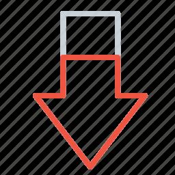 arrow, business, company, decrease, downfall, failure, loss icon