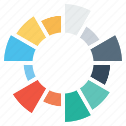 bar, chart, element, gauge, infograph, infographic, pie icon