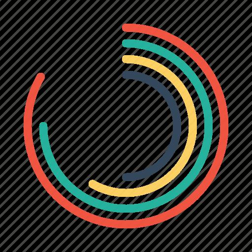 analysis, chart, gauge, measure, performance, pie, statics icon
