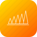 analysis, business, graph, infographic, peak, report, value icon