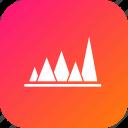 analysis, graph, infographic, peak, report, statistic, value icon