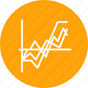analysis, chart, graph, infographic, report, statistic, success icon