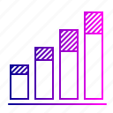 analysis, chart, column, graph, infographic, shade, statistic icon