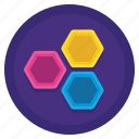 alternating, analysis, diagram, hexagons, honeycomb