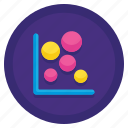 bubble, chart, graph, stats icon