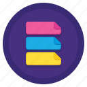 categories, colorful, label, tag icon