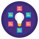 brainstroming, concept, ideas, light bulb icon