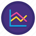 chart, graph, line, stats icon