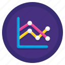 chart, graph, line, marked icon